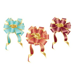 Colorful bows vector