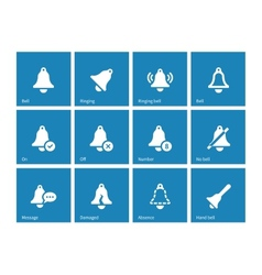 Ringing icons on blue background vector