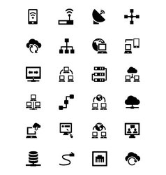 Networking icons 1 vector