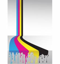CMYK flow vector image