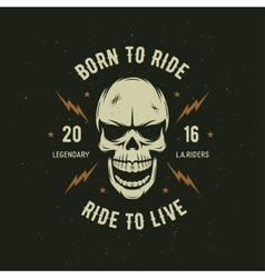 Vintage motorcycle t-shirt graphics born to ride vector