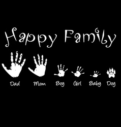 Handprints of whole family vector