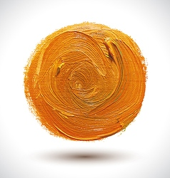 Abstract orange shape vector