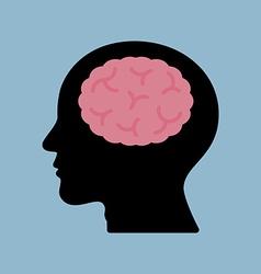 Brain think head vector