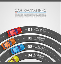 Car racing info art cover vector