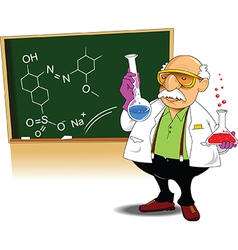 Chemistry teacher vector