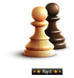 Chess pawns isolated vector image