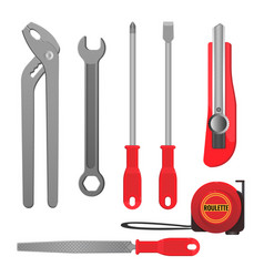 Convenient metal tools for repairement and vector