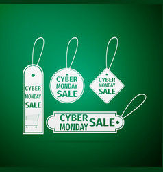 cyber monday sale tag icon vector image