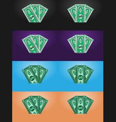 dollars abstract banknotes money vector image