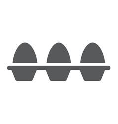 Eggs in carton package glyph icon farming vector