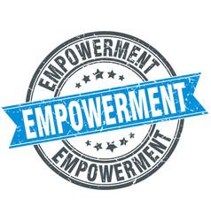 Empowerment round grunge ribbon stamp vector