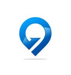 gps position abstract logo vector image