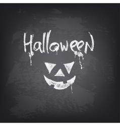 Halloween text design on chalkboard vector