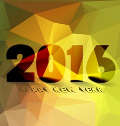 Happy new year 2016 Abstract Geometric Background vector image vector image