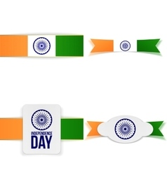 India independence day greeting labels set vector