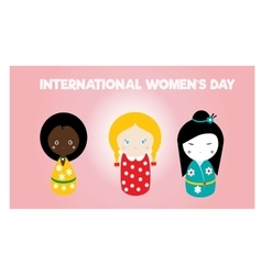 International womens day card vector image vector image