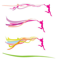 Lady freedom ribbons vector