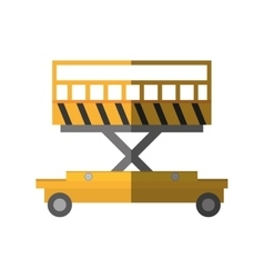 Lifting platform trolley stock warehouse shadow vector