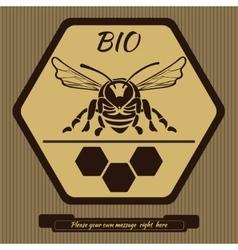 Logo for advertising honey 1 vector image vector image