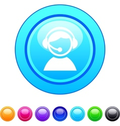 Operator circle button vector image vector image
