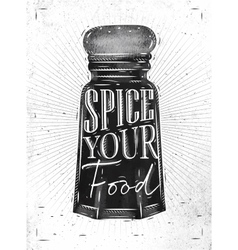 Poster pepper castor spice vector