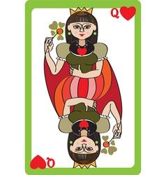 Queen hearts vector