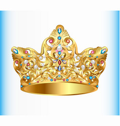 Royal golden crown vector