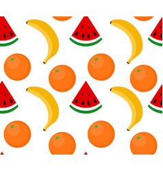 seamless background fruit watermelon banana vector image vector image