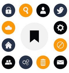 set of 13 editable network icons includes symbols vector image vector image
