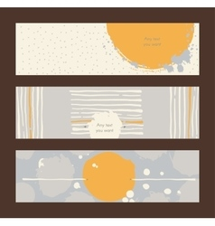 Set of horizontal hand drawn banners decorated vector image vector image