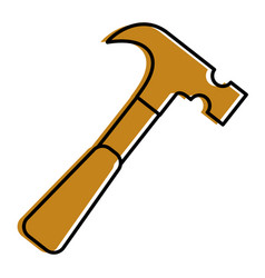 tool construction carpentry hammer icon vector image
