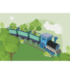 Trains trees vector