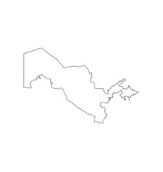 Uzbekistan map outline vector