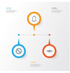 Web icons set collection of glance obstacle vector