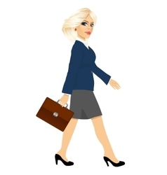 young businesswoman walking forward vector image vector image