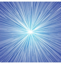 Sun burst blast background blue vector