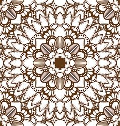 Brown mandala patterned background vector