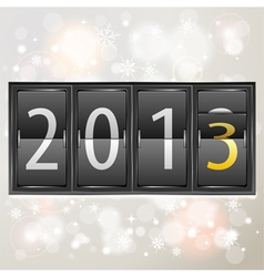New year 2013 on mechanical timetable vector