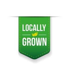 Locally grown green ribbon vector