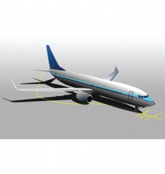 parking plane vector image