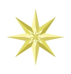 Eight-pointed star in flat design vector