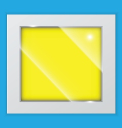 Square picture frame on the wall vector