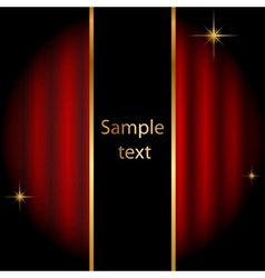 Stage background with sparkles vector