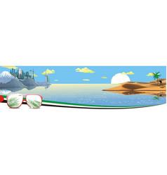 Panorama - the arabian resort on the coast vector