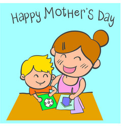 Happy mother day cartoon design vector