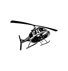 Helicopter Chopper Retro vector image