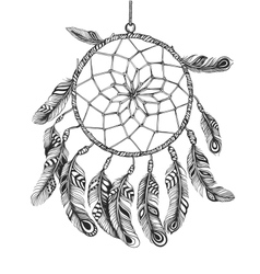 American indian dreamcatcher of shaman vector