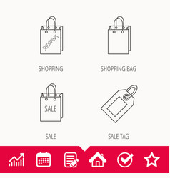 Shopping sale bag and coupon icons vector