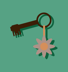 flat icon design collection key and key fob in vector image